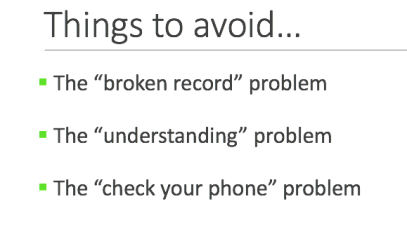 Communication problems: things to avoid